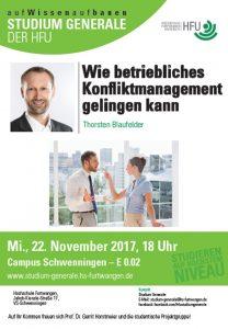 Konfliktmanagement Vortrag Hochschule Schwenningen