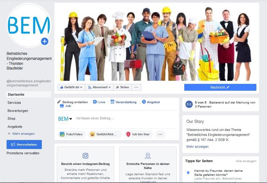 BEM Facebook Gesundheitsschutz