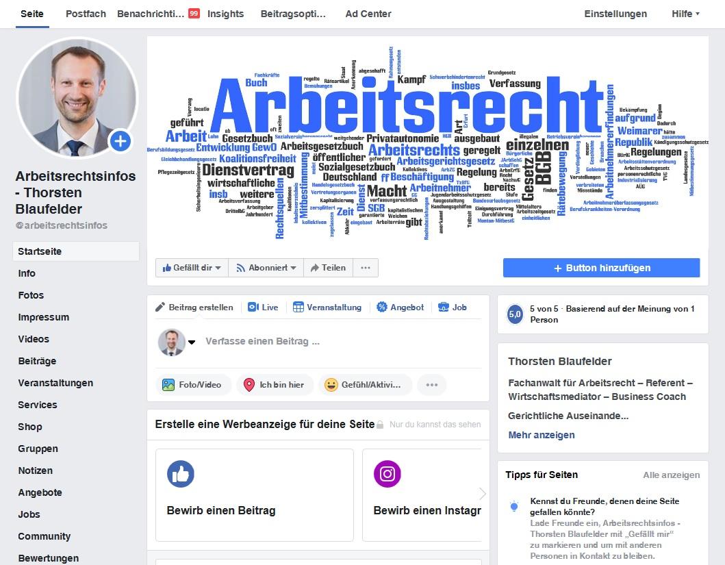 Blaufelder Dornhan Facebook Arbeitsrechtinfos