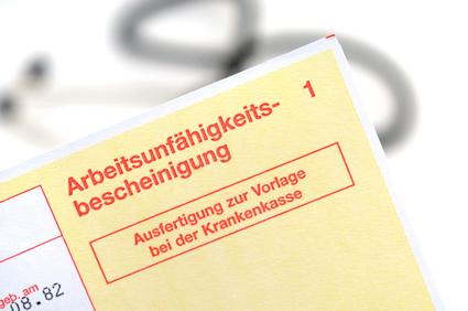 arbeitsunfähig Gelber Zettel Dornhan Rottweil Horb Sulz