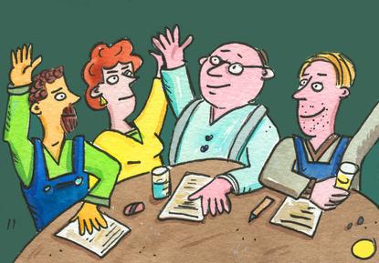 Wie bequem muss ein Betriebsratsmitglied sitzen?