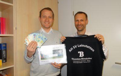 500 EUR für Glücksmomente4Kids – Vielen Dank der AH des SVL Leinstetten